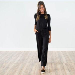 Black jumpsuit with pockets. Wardrobe essential